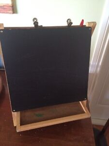 Double easel chalkboard/whiteboard
