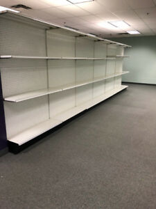 gondola, shelving, store fixtures, grocery store shelves