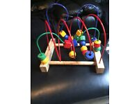 Wooden baby activity toy