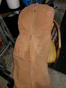 Tough duck insulated coveralls Winter is here