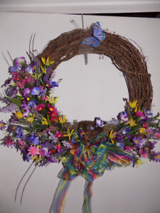 Wall or Door Hanger Decorated Wreath