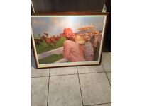 """Framed Limited Edition horse racing print """" Post Haste """" signed"""