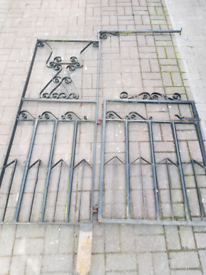 Wrought iron gate and surround