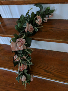 Faux flower garland roses