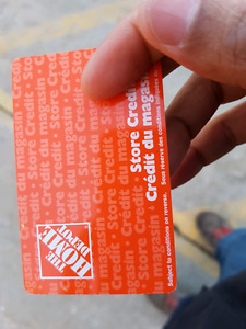 Gift cards of The Home Depot worth $707