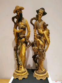 Vintage Chinese couple ornamemts