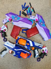 Selection of nerf gun toys