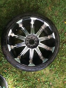 (4) 22 inch Fast Mags 5x120.