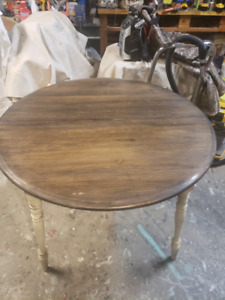 FREE DELIVERY HRM- RESTORED TWO TONED DINNING TABLE AND CHAIRS