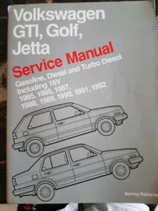 Volkswagon service manuals