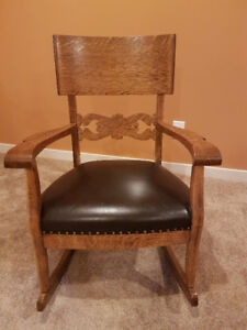 Beautiful antique chair and matching rocker