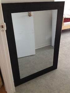 Beautiful black wall mirror