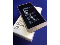 Samsung J3 (6) 8 GiG Brand New Available In Gold