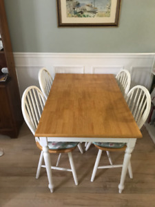 Solid wood Kitchen table and four chairs,