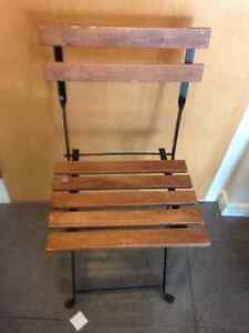 2 solid wood slat folding chairs Downtown-West End Greater Vancouver Area image 2