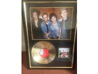 One direction mounted Framed cd