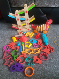 Wooden toys and playdough accessories, postage available