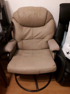 Reclining Rocking Chair and foot stool