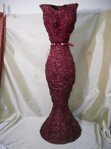 2 1/2 foot tall Sparkly Red Dress decor