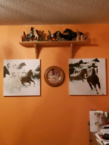 Two panel horse canvas