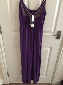 Ladies small purple maxi dress