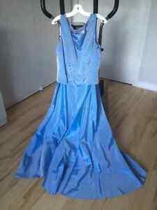 robe longue bleu ciel