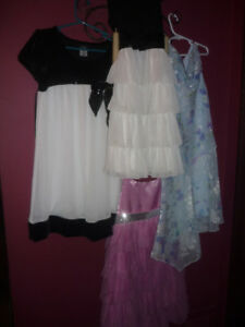 4 (all different) girls party dresses: $10 each/$35 for all