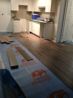 Flooring installation. $1 sq/ft