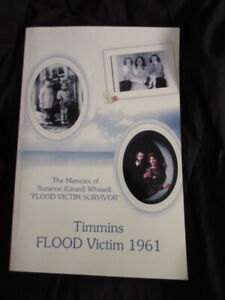 Book: Timmins Flood Victim 1961 by Suzanne (Girard) Whissel