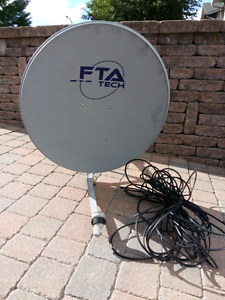 "Satellite 30""+receiver free to Air+Cable RG6 30meters"