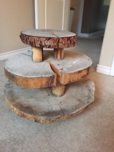 Rustic tiered table
