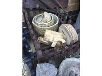 Vintage ceramic planters, vitro ware etc