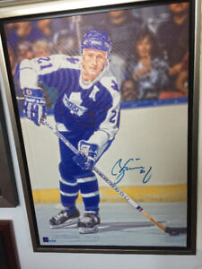 Borje Salming Signed & Framed Leafs Canvas