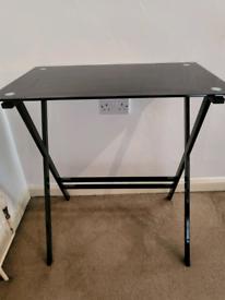 Black glass top desk I good condition