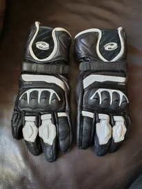 Held Revel 2 Motorcycle race gloves motorbike leather CE RRP £80