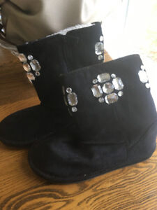 Black Suede short boots