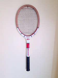 Collection of vintage tennis rackets