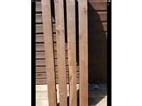 Reclaimed tanalised timber posts - ideal garden project