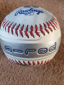 Alex Rodriguez A-Rod Texas Rangers Rawlings baseball