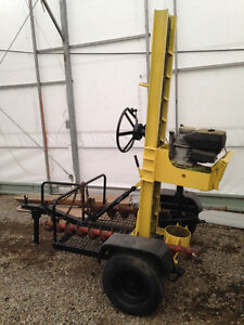 "Post hole auger trailer Gas powered with 6"" and 8"" bits"