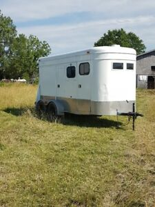 2 HORSE MILEY STEP UP BUMPER PULL TRAILER