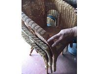 Wicker chairs x3