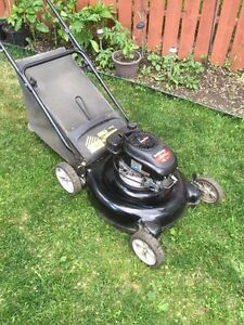 "Yard machines 21"" rear bag mower"