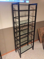 Bookcase - metal and glass