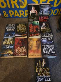 Anne Rice & James Herbert Books