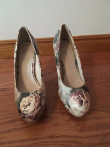 Floral Print Le Chateau High Heels - BARELY WORN