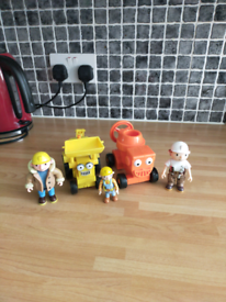 2 Bob the Builder trucks plus 3 figures £1 each