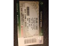 Rugby Ireland v Canada sat 12th Nov west stand upper x 1 ticket