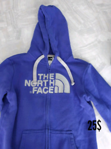 Coton ouater: 2 north face (xs), roxy (small) hurley (xs)