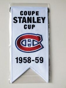 CENTENNIAL STANLEY CUP 1958-59 BANNER MONTREAL CANADIENS HABS